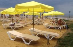 Новый песчаный пляж в Сочи