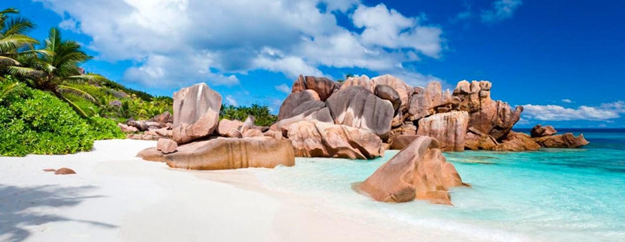 картинка фотография курорта Праслен, остров на Сейшелах
